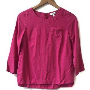 J. Crew Silk Pink blouse, ¾ length sleeves size 00